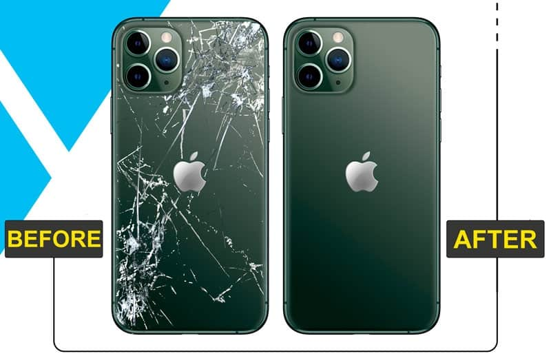 Apple iPhone 11 Pro Max Back Glass Replacement Cost in Chennai India